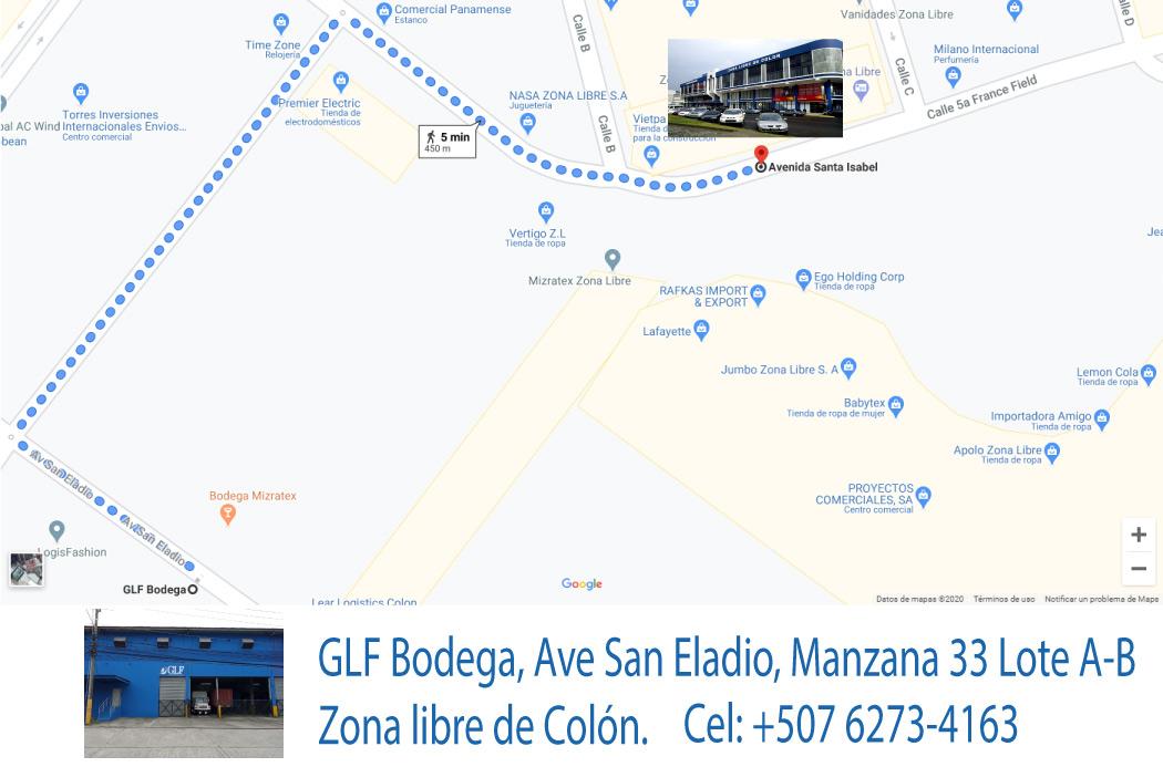 Como Llegar a la Bodega de GLF Corp en Zona Libre de Colón Rep. de Panamá.